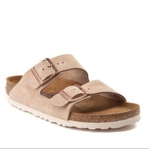 BIRKENSTOCK nude Arizona soft footbed sandals 38